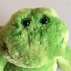 """16"""" Build a Bear Green Frog 3 Leaf  Clover Smile"""